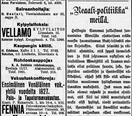 Helsingin Sanomat 24.6.1905 DIGI - Kansalliskirjasto digitoidut aineistot / Sanomalehdet